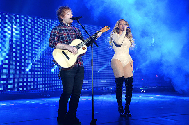 Photo of Beyonce and Ed Sheeran perform 'Drunk In Love' together