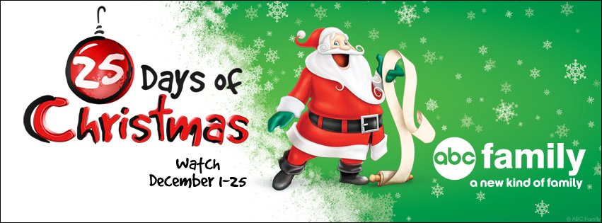 facebook twitter google tumblr pinterest whatsapp telegram viber plan your december accordingly abc familys 25 days of christmas - Abc 25 Days Of Christmas
