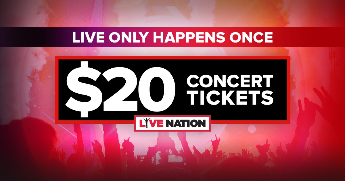 Live Nation offers tickets to big-name shows and festivals as well as to smaller club shows featuring regional favorites and up-and-coming bands. Rock out, cowboy up or enjoy the classics for less with Live Nation coupon codes.