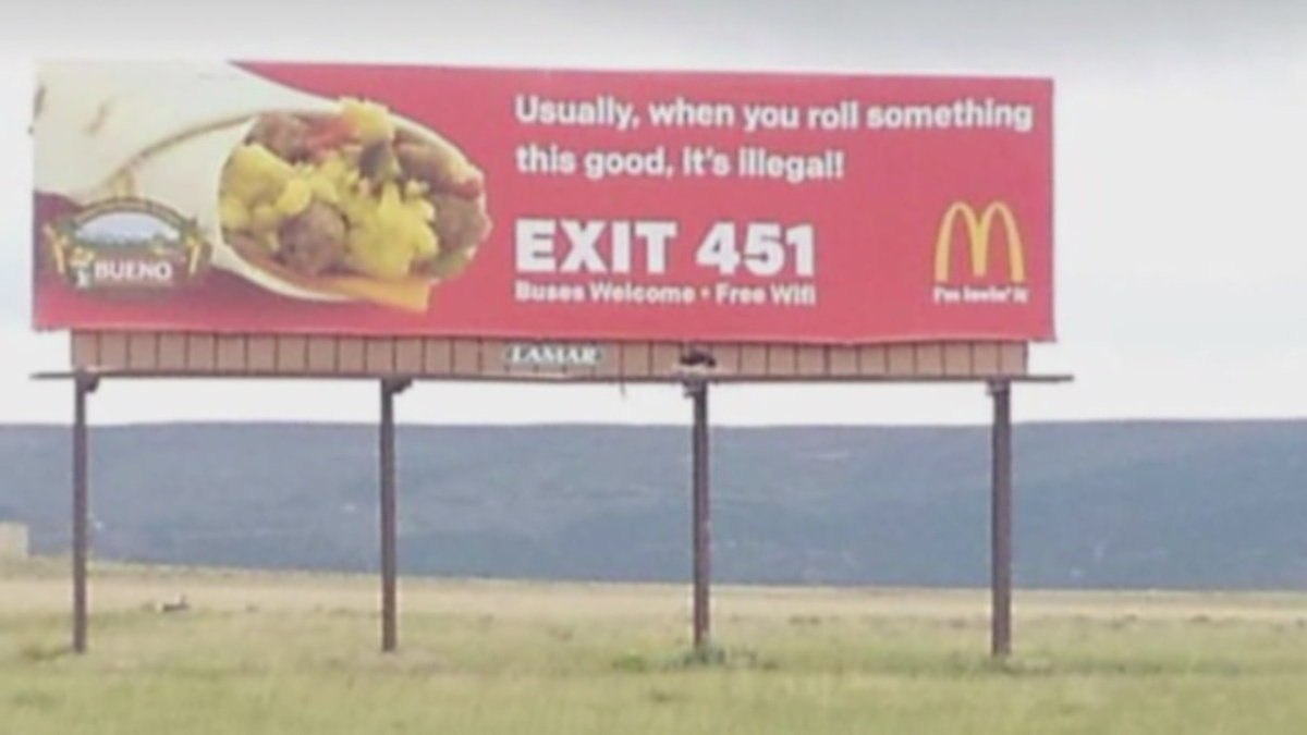 Photo of McDonald's advertising gets high and gets giggles