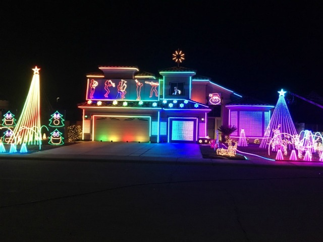 gilbert family featured on nationally televised holiday lights special