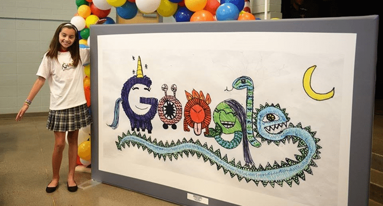 Photo of Arizona student hoping to win the Doodle 4 Google competition for college scholarship