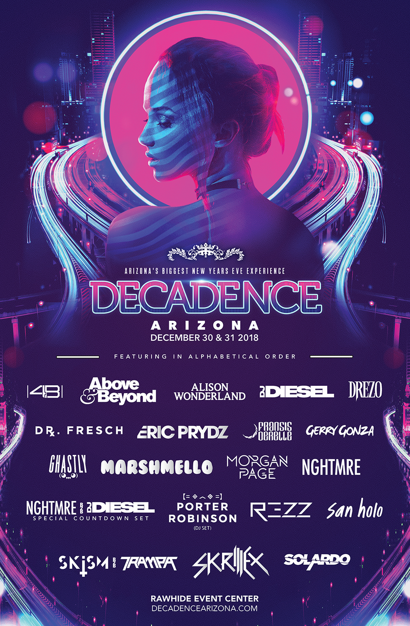 Relentless Beats Unleashes Phase One Lineup for DECADENCE