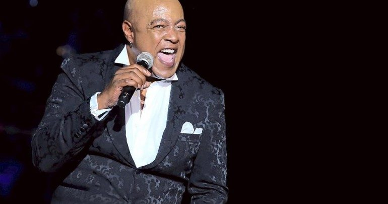 Photo of Peabo Bryson in hospital after suffering mild heart attack