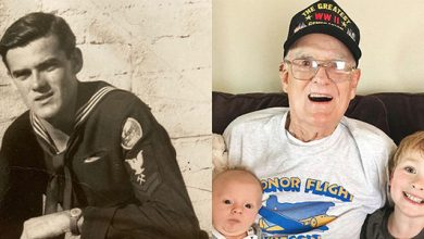 Photo of 95-year-old WWII veteran recovers from Coronavirus in the U.S.
