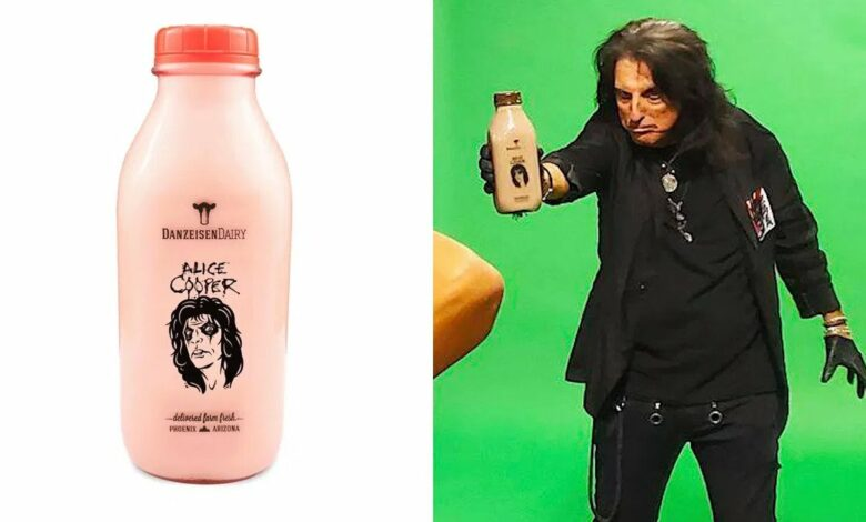 Photo of Got Milk? Alice Cooper and Danzeisen Dairy raising money for his music foundation